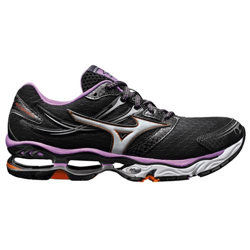 Womens Mizuno Wave Creation 14 Running Shoe - Black/Purple 11