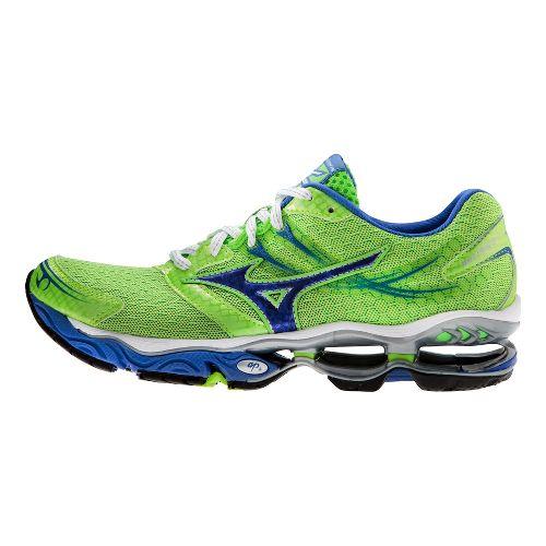 Womens Mizuno Wave Creation 14 Running Shoe - Green/Blue 7.5