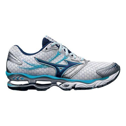 Womens Mizuno Wave Creation 14 Running Shoe - White/Blue 8.5