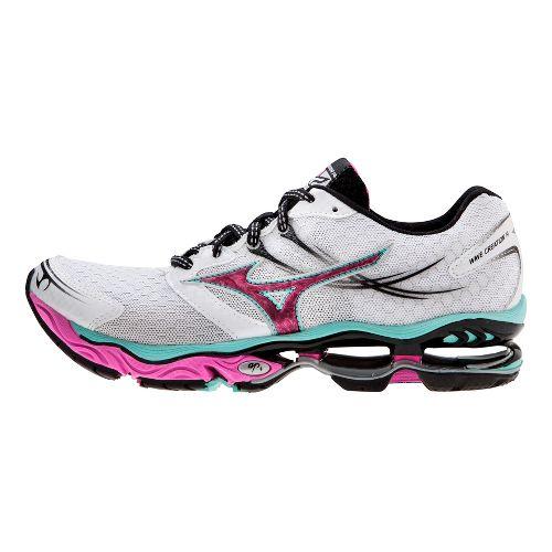 Womens Mizuno Wave Creation 14 Running Shoe - White/Pink 11