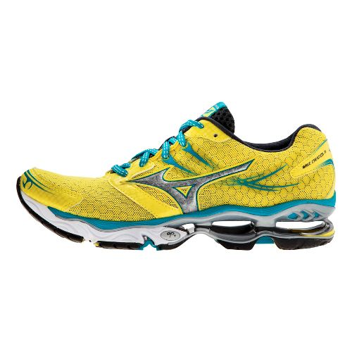 Womens Mizuno Wave Creation 14 Running Shoe - Yellow/Blue 9
