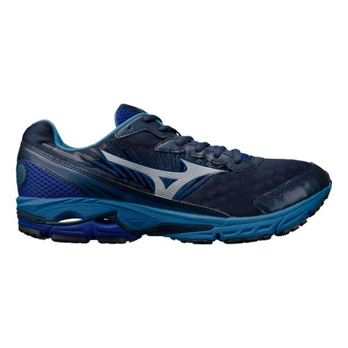 Mens Mizuno Wave Rider 16 Running Shoe - Blue 8.5
