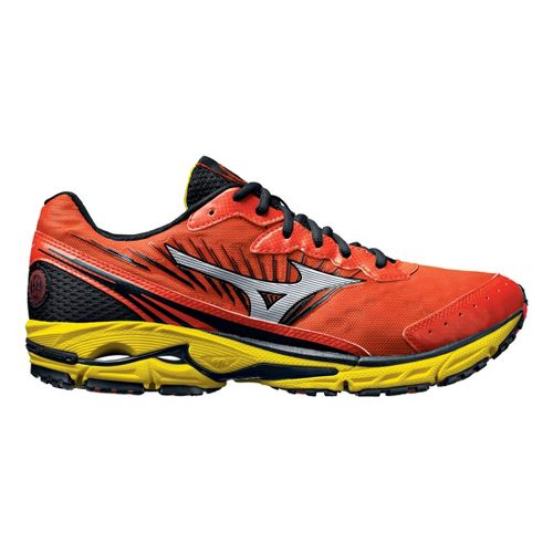 Mens Mizuno Wave Rider 16 Running Shoe - Orange/Yellow 14