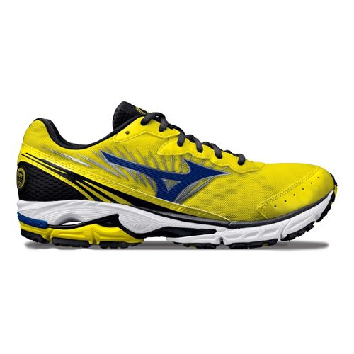 Mens Mizuno Wave Rider 16 Running Shoe - Yellow/Blue 10.5
