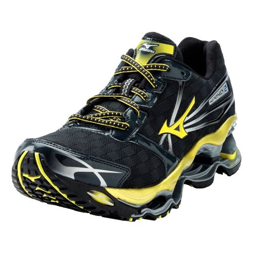 Mens Mizuno Wave Prophecy 2 Running Shoe - Black/Yellow 12.5