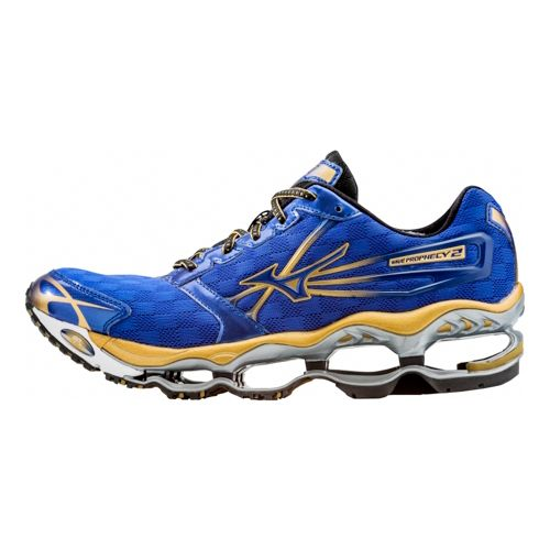 Mens Mizuno Wave Prophecy 2 Running Shoe - Blue 11.5