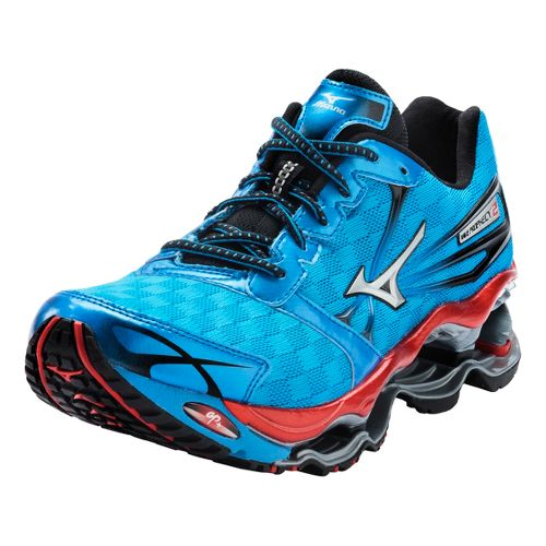 Mens Mizuno Wave Prophecy 2 Running Shoe - Blue/Red 9.5