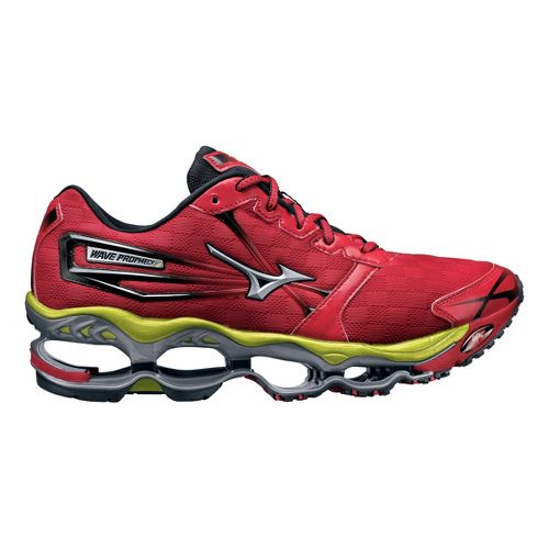 Mens Mizuno Wave Prophecy 2 Running Shoe - Red 11.5