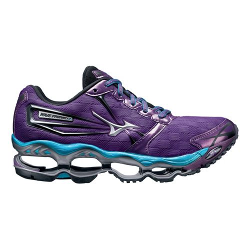 Womens Mizuno Wave Prophecy 2 Running Shoe - Purple/Blue 11