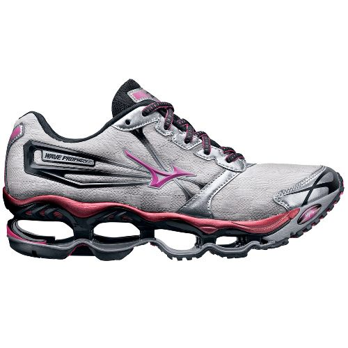 Womens Mizuno Wave Prophecy 2 Running Shoe - Silver/Pink 8.5