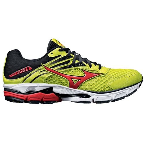 Mens Mizuno Wave Inspire 9 Running Shoe - Lime/Orange 8.5