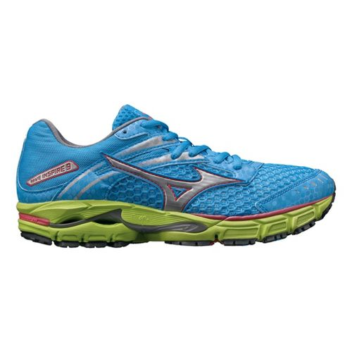 Womens Mizuno Wave Inspire 9 Running Shoe - Blue/Green 9.5