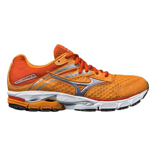 Womens Mizuno Wave Inspire 9 Running Shoe - Orange/Silver 9.5
