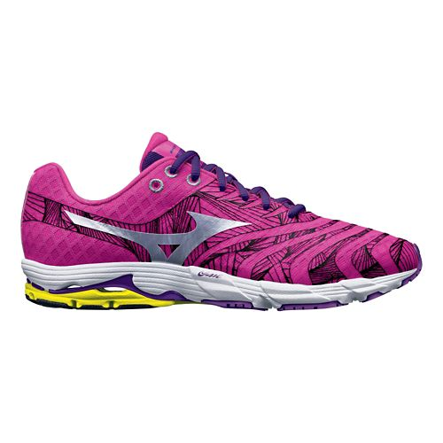Womens Mizuno Wave Sayonara Running Shoe - Pink/Purple 10.5