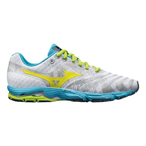 Womens Mizuno Wave Sayonara Running Shoe - White/Blue 7.5