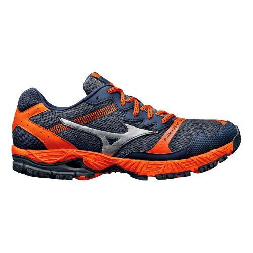 Mens Mizuno Wave Ascend 8 Trail Running Shoe - Slate/Orange 12.5