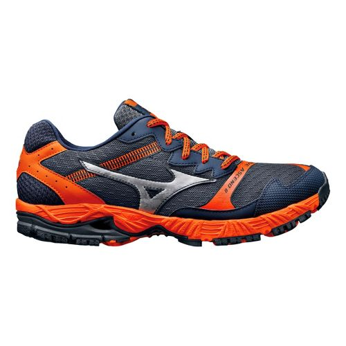 Mens Mizuno Wave Ascend 8 Trail Running Shoe - Slate/Orange 8.5