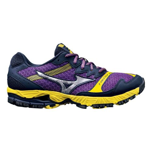 Womens Mizuno Wave Ascend 8 Trail Running Shoe - Purple/Yellow 8.5