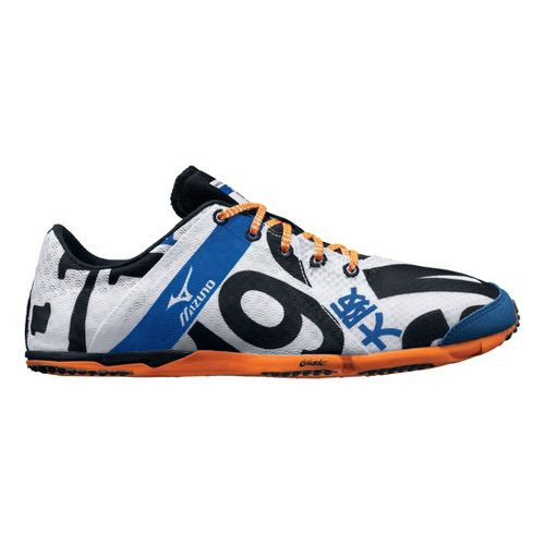 Mens Mizuno Wave Universe 5 Racing Shoe - White/Orange 11.5