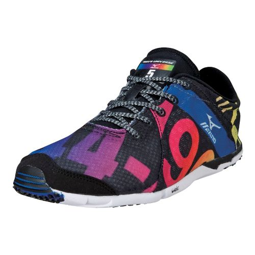 Womens Mizuno Wave Universe 5 Racing Shoe - Black/Multi 11