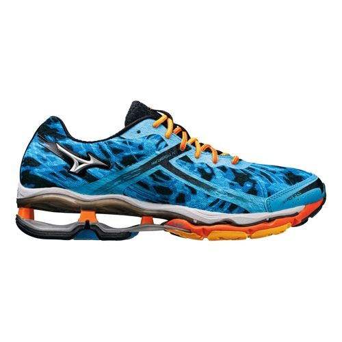 Mens Mizuno Wave Creation 15 Running Shoe - Blue/Orange 10.5