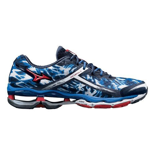Mens Mizuno Wave Creation 15 Running Shoe - Blue/Red 9