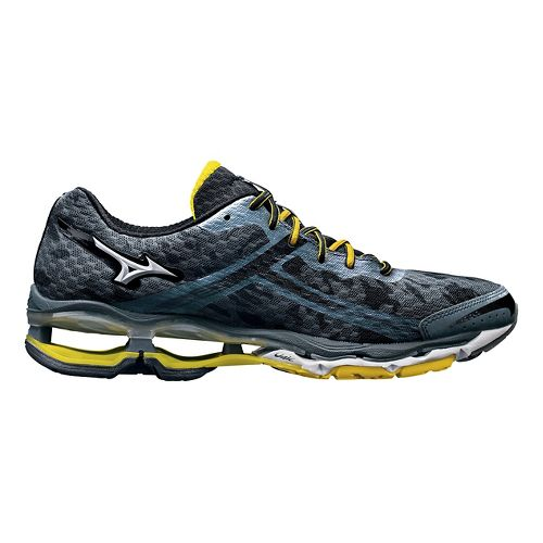 Mens Mizuno Wave Creation 15 Running Shoe - Slate/Black 10.5
