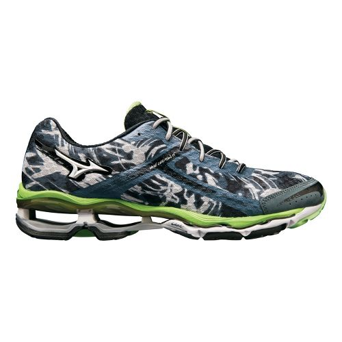 Mens Mizuno Wave Creation 15 Running Shoe - Slate/Green 12.5