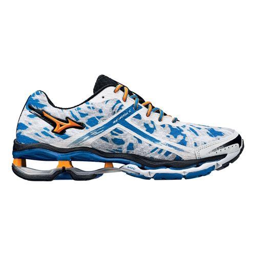 Mens Mizuno Wave Creation 15 Running Shoe - White/Blue 9