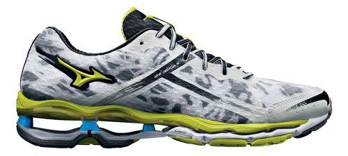 Mens Mizuno Wave Creation 15 Running Shoe - White/Lime 8