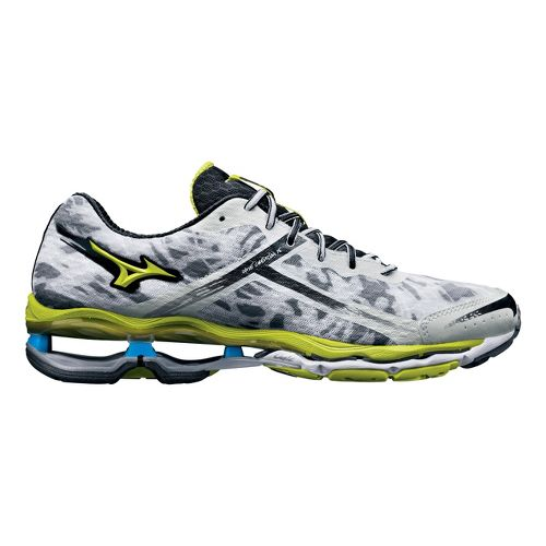 Mens Mizuno Wave Creation 15 Running Shoe - White/Lime 8