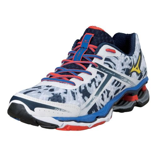 Mens Mizuno Wave Creation 15 Running Shoe - White/Navy 11