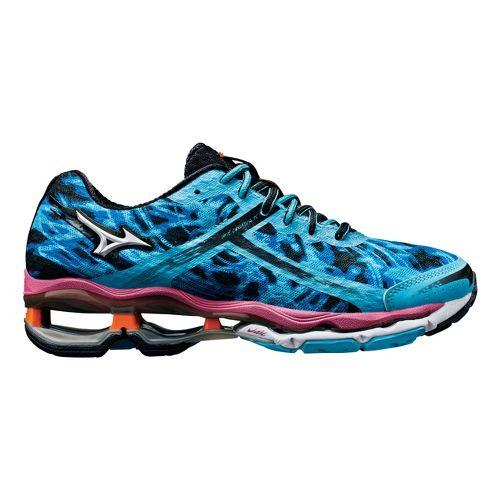Womens Mizuno Wave Creation 15 Running Shoe - Blue/Pink 10.5