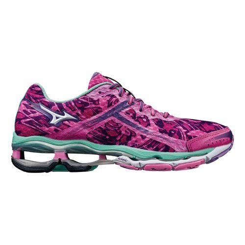 Womens Mizuno Wave Creation 15 Running Shoe - Pink/Mint 10.5