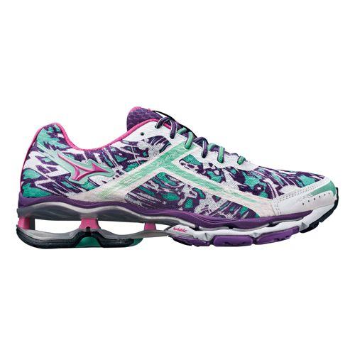 Womens Mizuno Wave Creation 15 Running Shoe - Purple/Mint 11