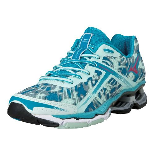 Womens Mizuno Wave Creation 15 Running Shoe - Teal/Mint 10.5