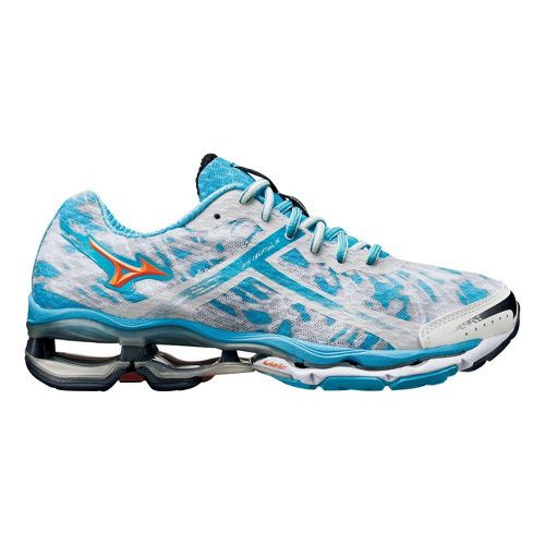 Womens Mizuno Wave Creation 15 Running Shoe - White/Blue 7.5