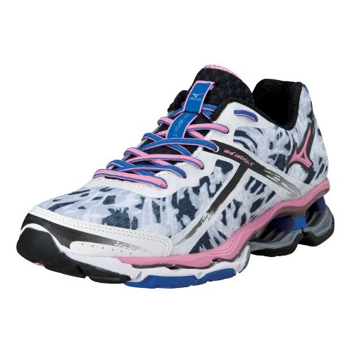 Womens Mizuno Wave Creation 15 Running Shoe - White/Pink 10.5