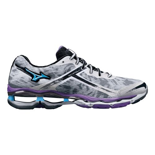 Womens Mizuno Wave Creation 15 Running Shoe - White/Purple 7