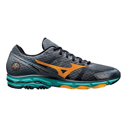 Mens Mizuno Wave Rider 17 Running Shoe - Slate 9