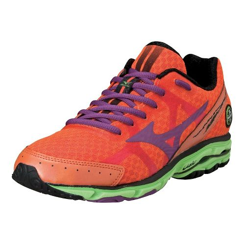 Womens Mizuno Wave Rider 17 Running Shoe - Celosia/Purple Passion 11.5