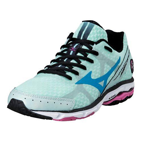 Womens Mizuno Wave Rider 17 Running Shoe - Mint 10