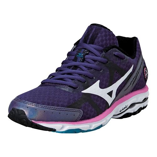 Womens Mizuno Wave Rider 17 Running Shoe - Purple/Pink 7.5