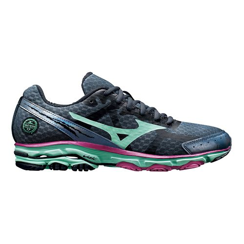 Womens Mizuno Wave Rider 17 Running Shoe - Slate 9