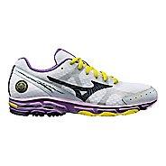 Womens Mizuno Wave Rider 17 Running Shoe - White/Purple 6