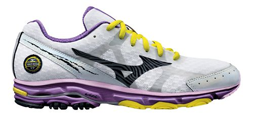 Womens Mizuno Wave Rider 17 Running Shoe - White/Purple 6