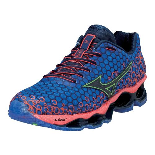 Mens Mizuno Wave Prophecy 3 Running Shoe - Blue/Orange 9.5