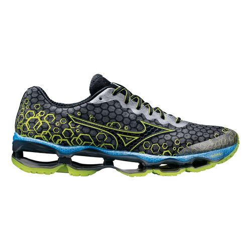 Mens Mizuno Wave Prophecy 3 Running Shoe - Slate/Lime 8.5