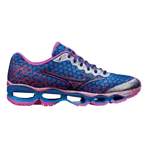 Womens Mizuno Wave Prophecy 3 Running Shoe - Blue/Pink 10.5