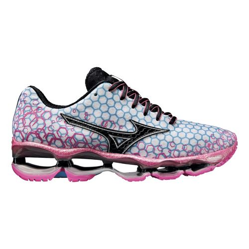 Womens Mizuno Wave Prophecy 3 Running Shoe - White/Pink 8